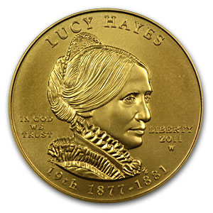 2011-W 1/2 oz Gold Lucy Hayes MS-70 PCGS (First Strike)