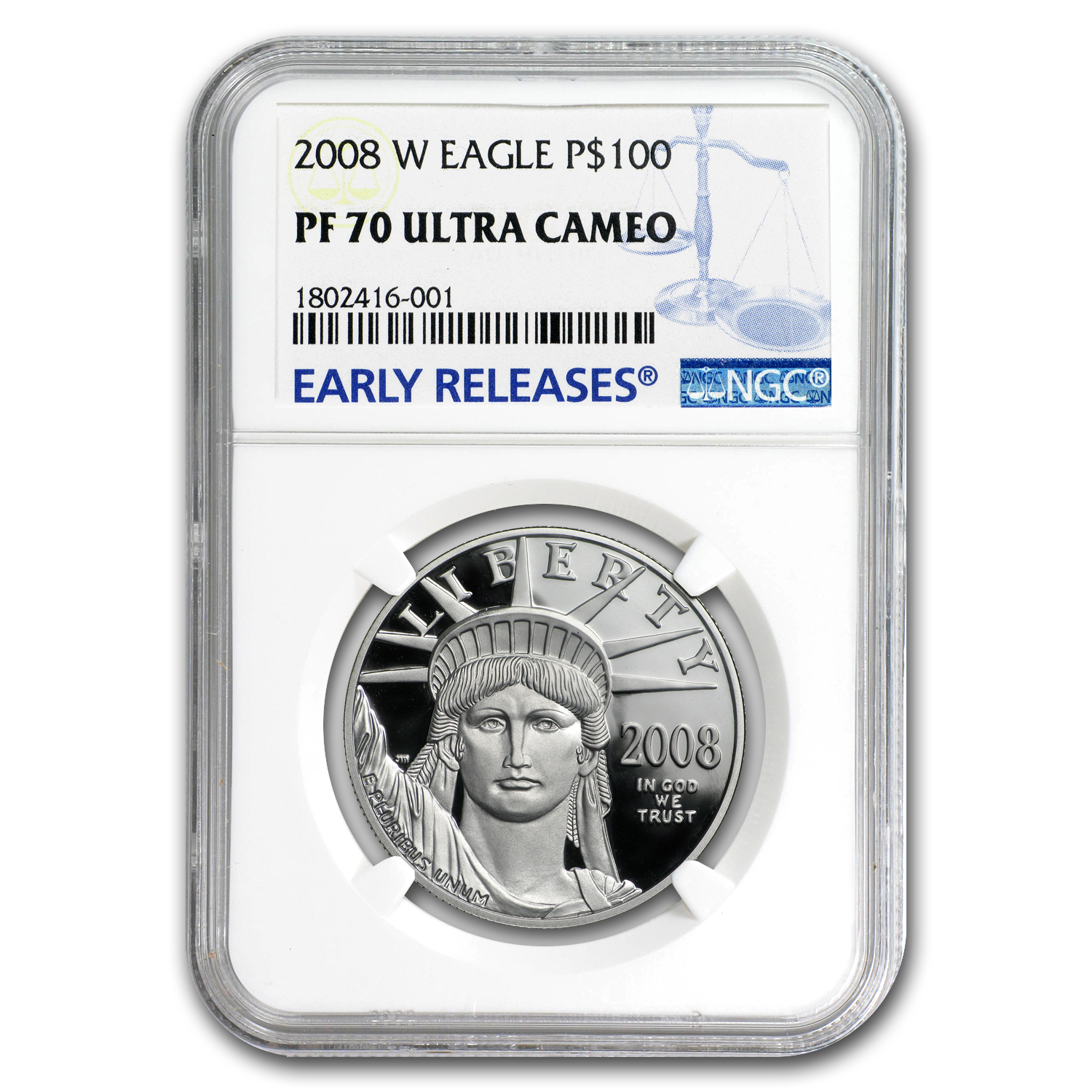 2008-W 1 oz Proof Platinum American Eagle PF-70 NGC (ER)