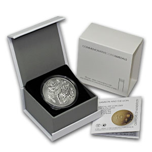 2009 0.857 oz Silver Israel Samson & Lion 2 NIS Proof