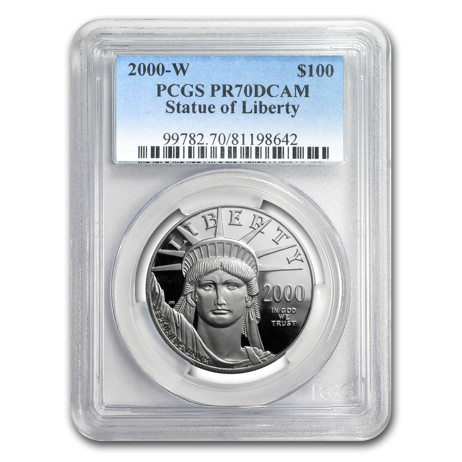2000-W 1 oz Proof Platinum American Eagle PR-70 PCGS Registry Set