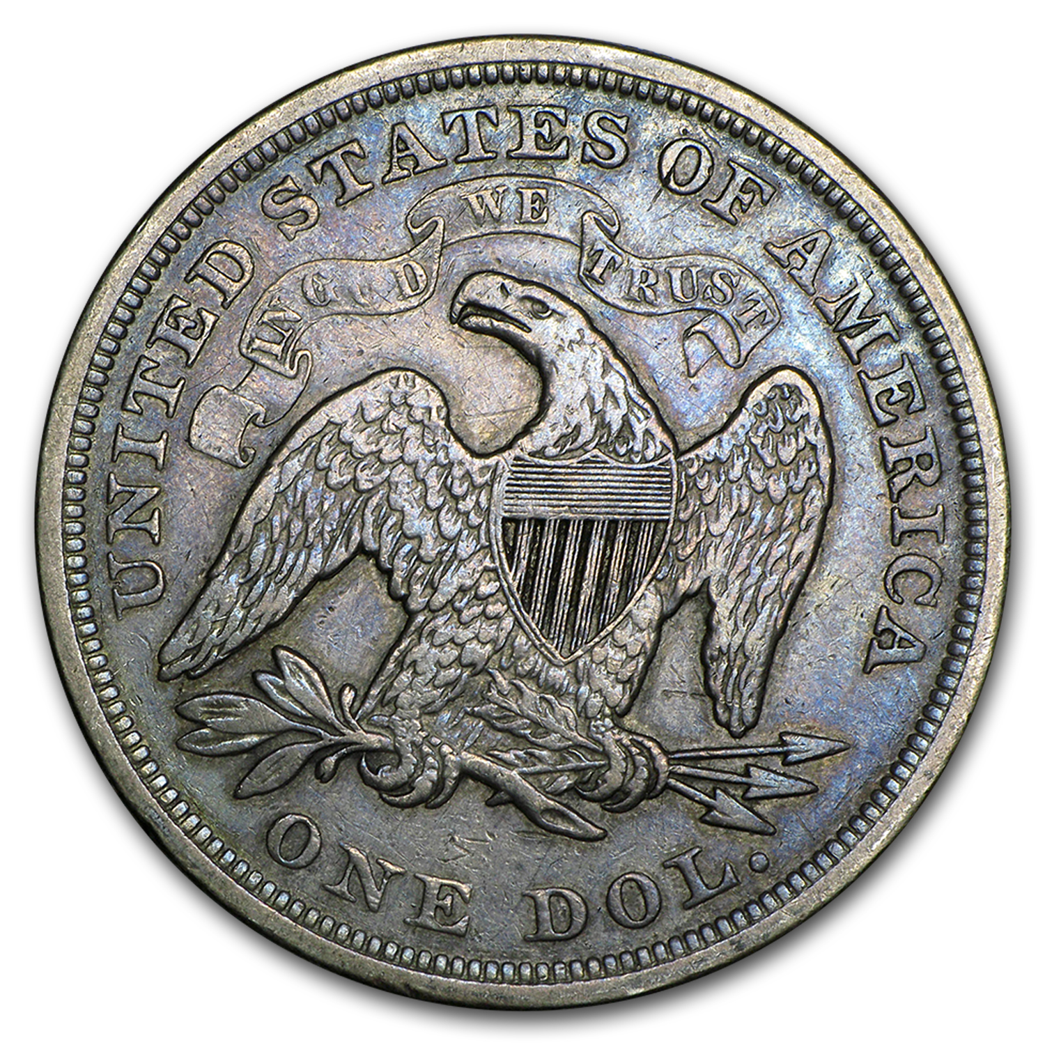 1840-1873 Liberty Seated Dollar XF