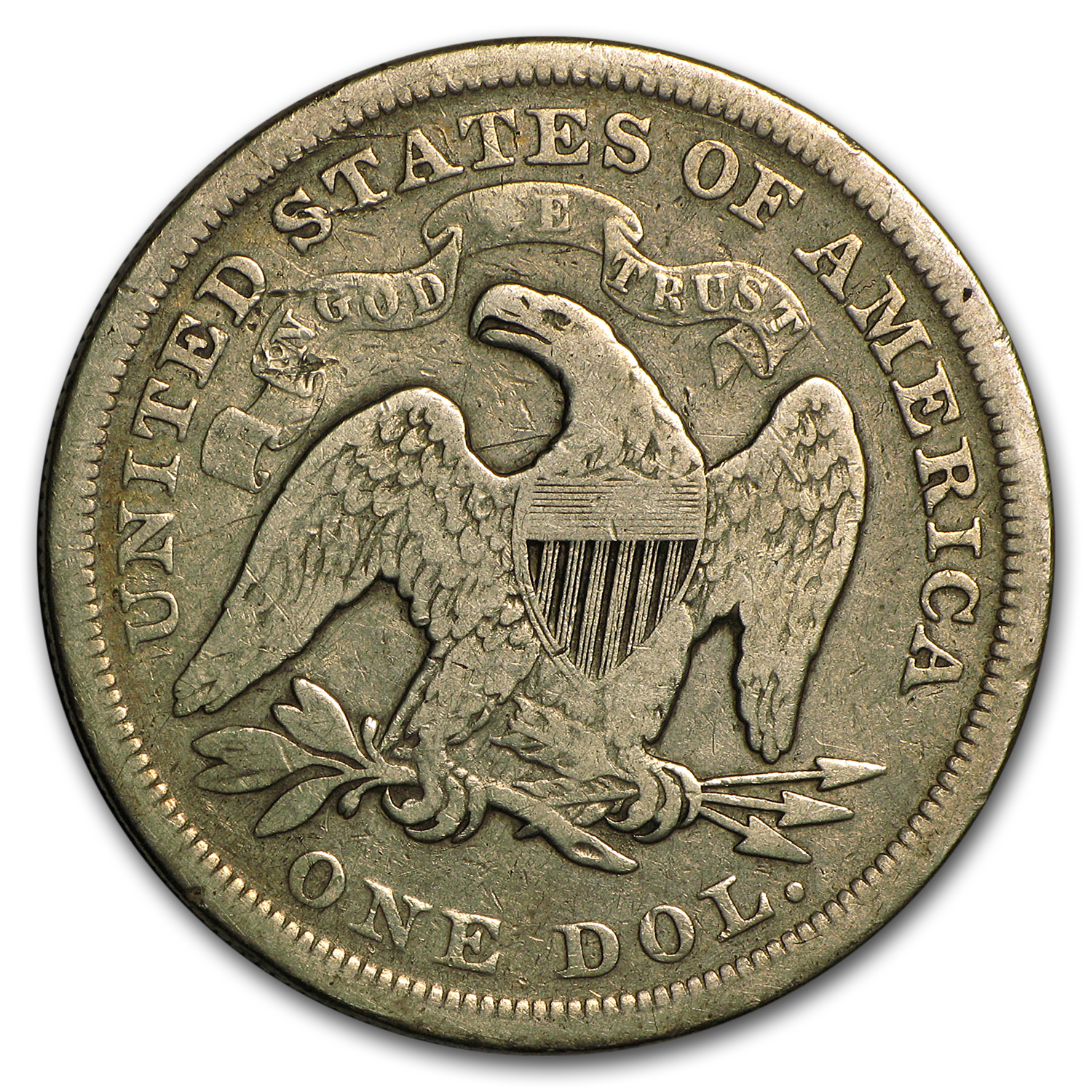 1840-1873 Liberty Seated Dollar - Fine