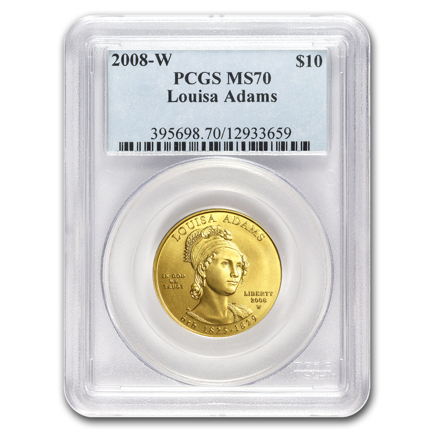 2008-W 1/2 oz Gold Louisa Adams MS-70 PCGS