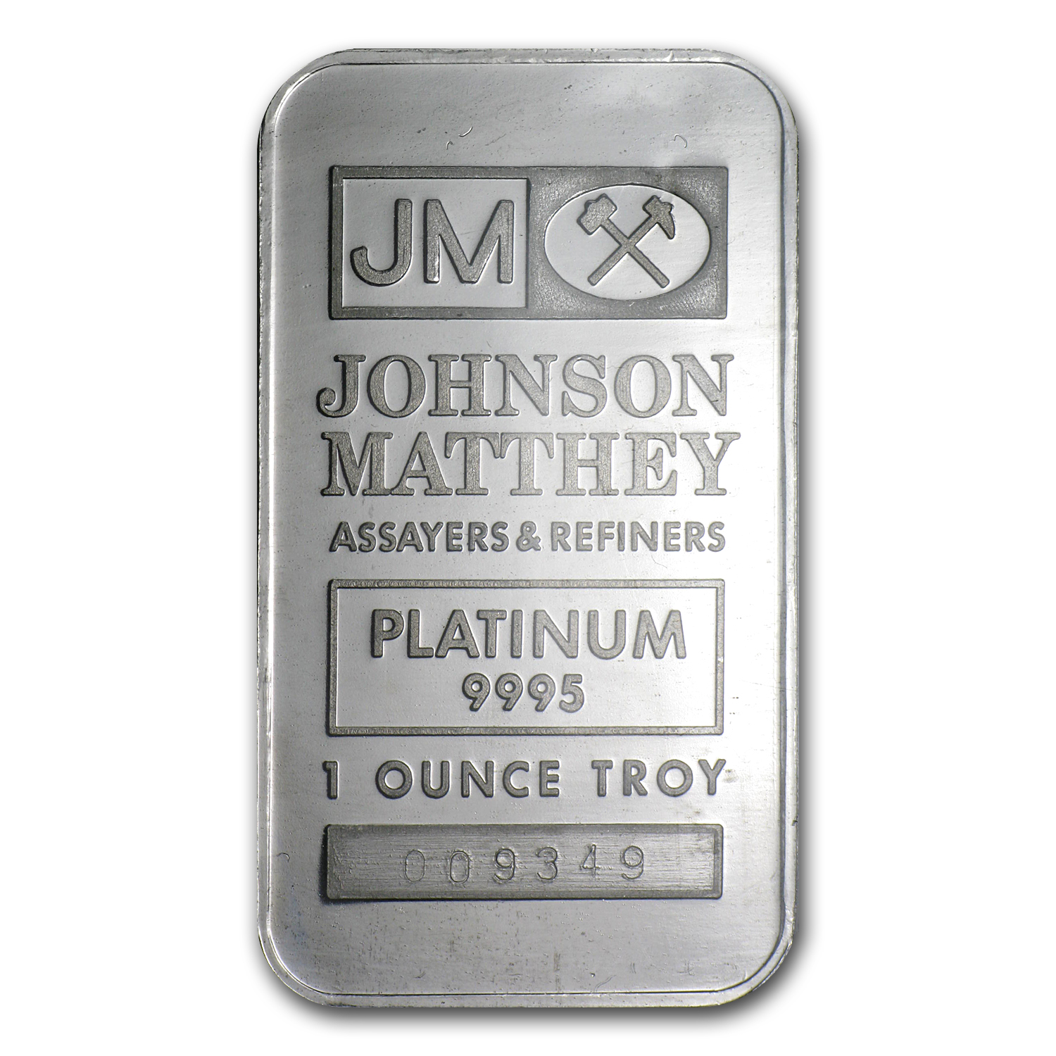 1 oz Platinum Bar - Johnson Matthey (.9995 Fine, Vintage Assay)