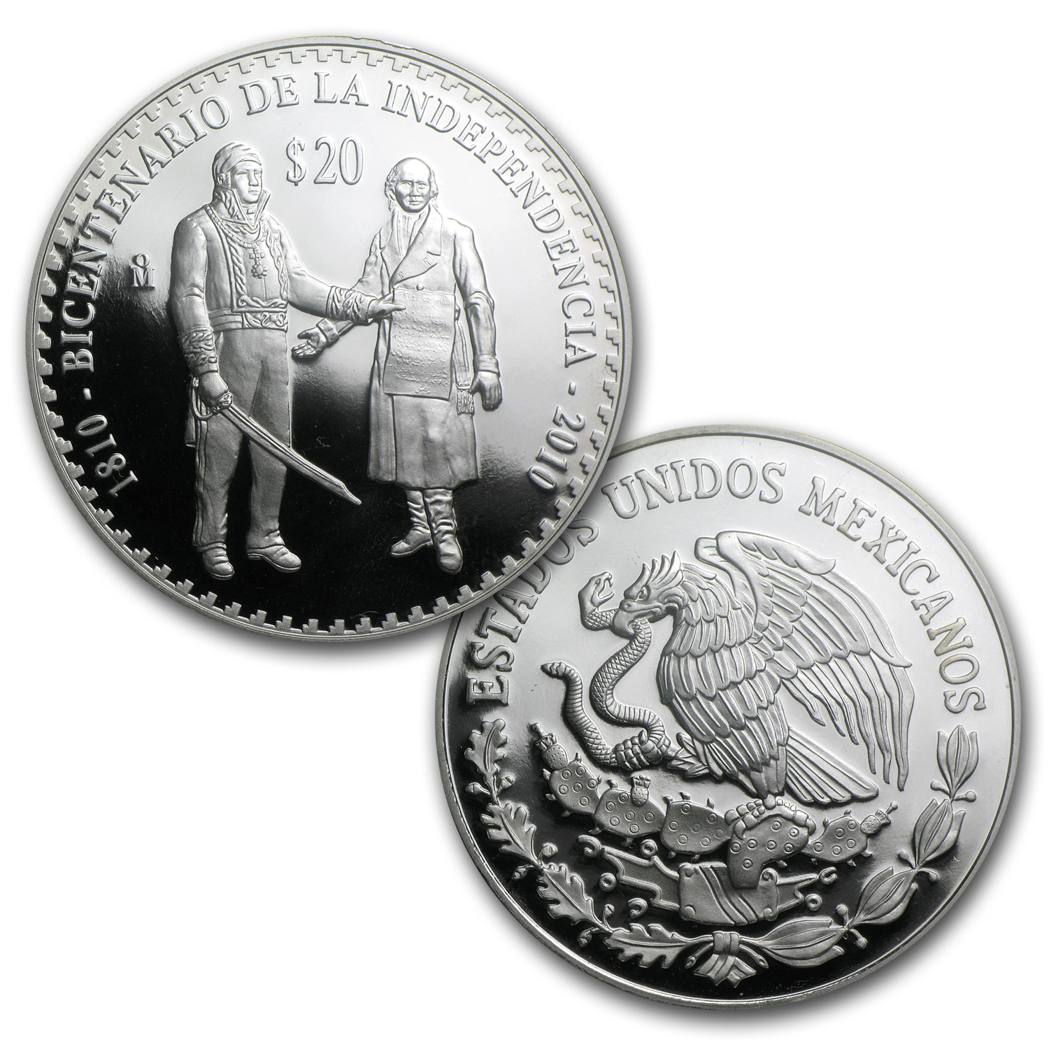 2010 Mexican Proof 5-Coin Prestige Set (1.2057 oz AGW, 8 oz ASW)