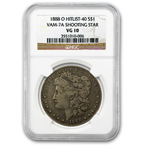 1888-O VG-10 NGC (VAM-7A, Shooting Star Hit List-40)