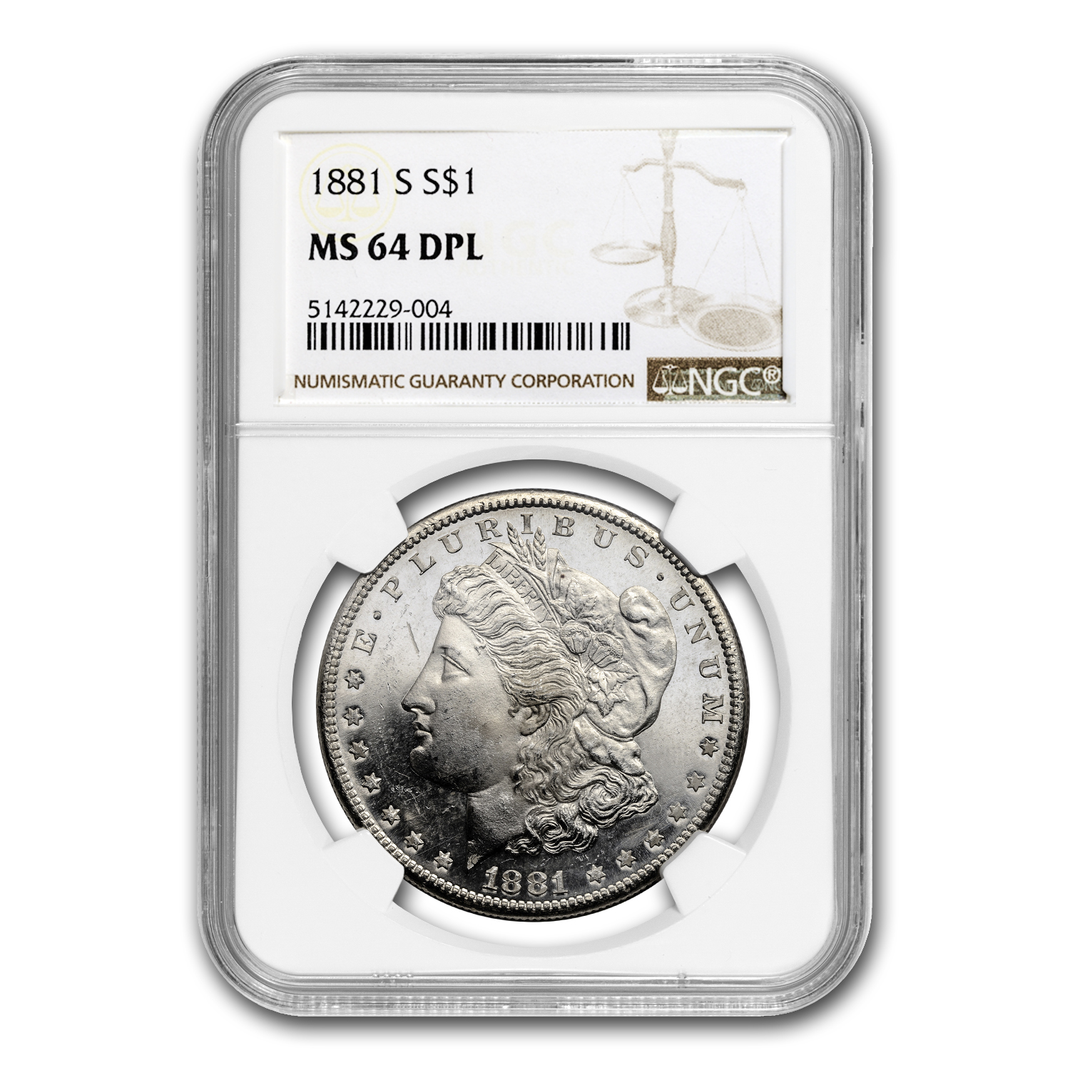 1878-1904 Morgan Dollars - MS-64 NGC (DPL)
