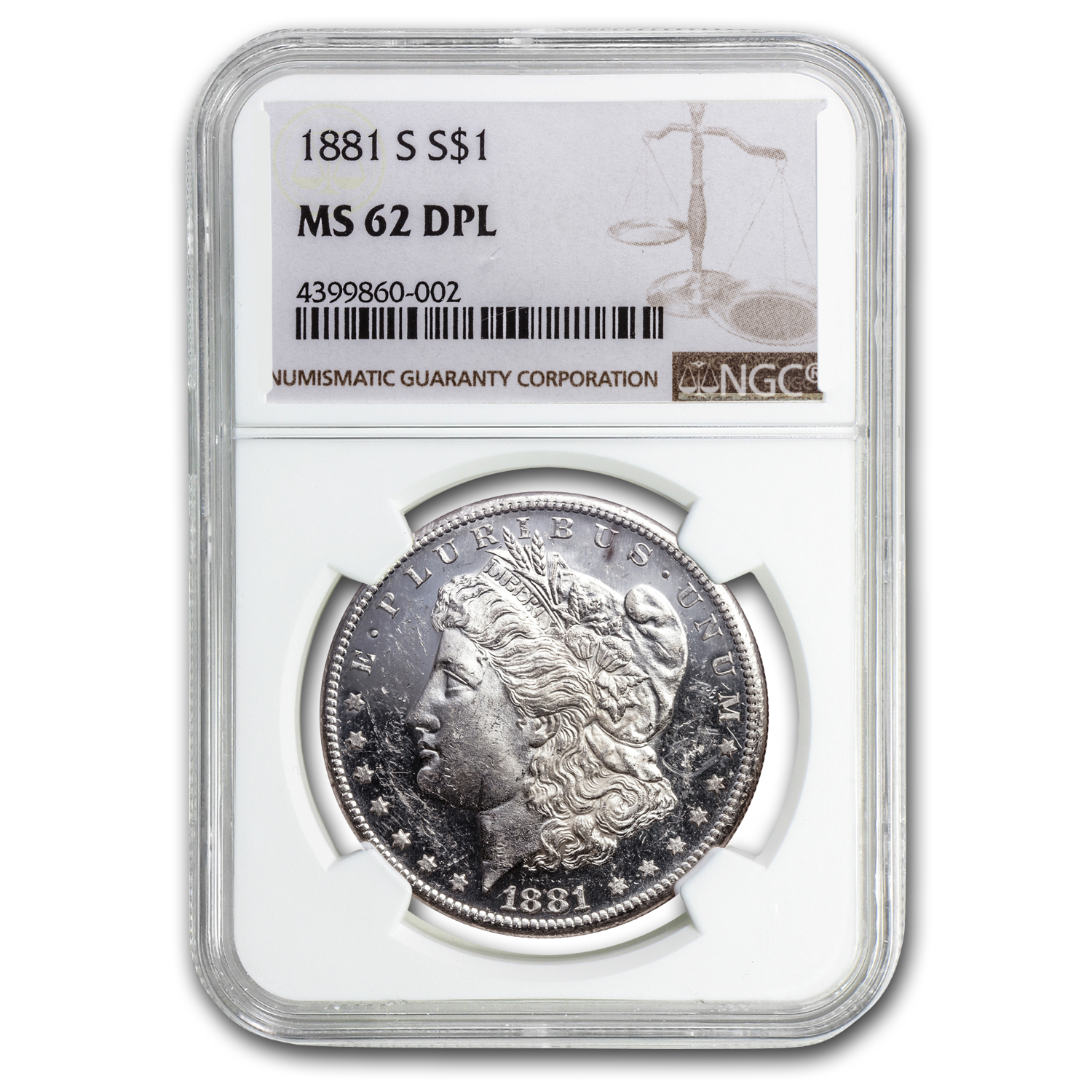 1878-1904 Morgan Dollars MS-62 NGC (DPL)