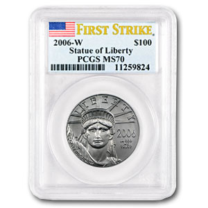 2006-W 1 oz Burnished Platinum American Eagle MS-70 PCGS (FS)