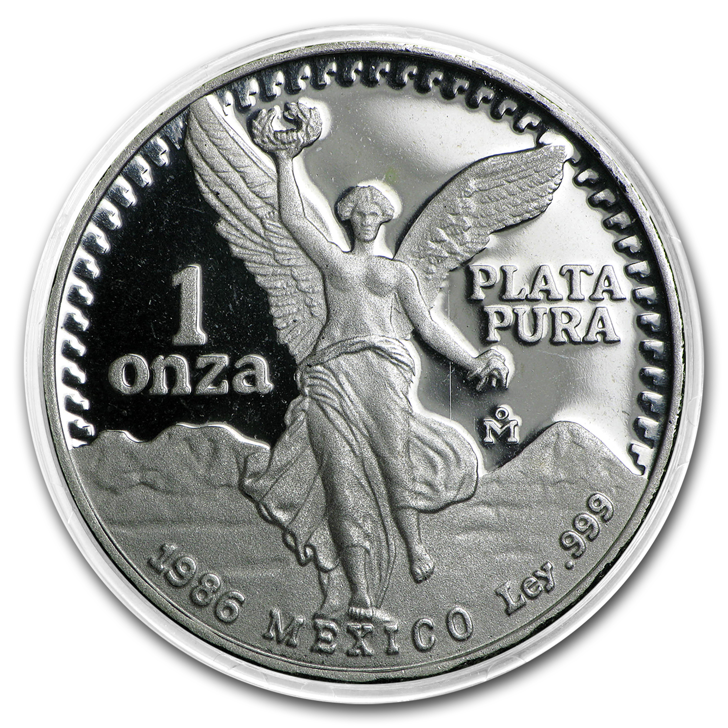 1986 Mexico 1 oz Silver Libertad Proof (In Capsule)