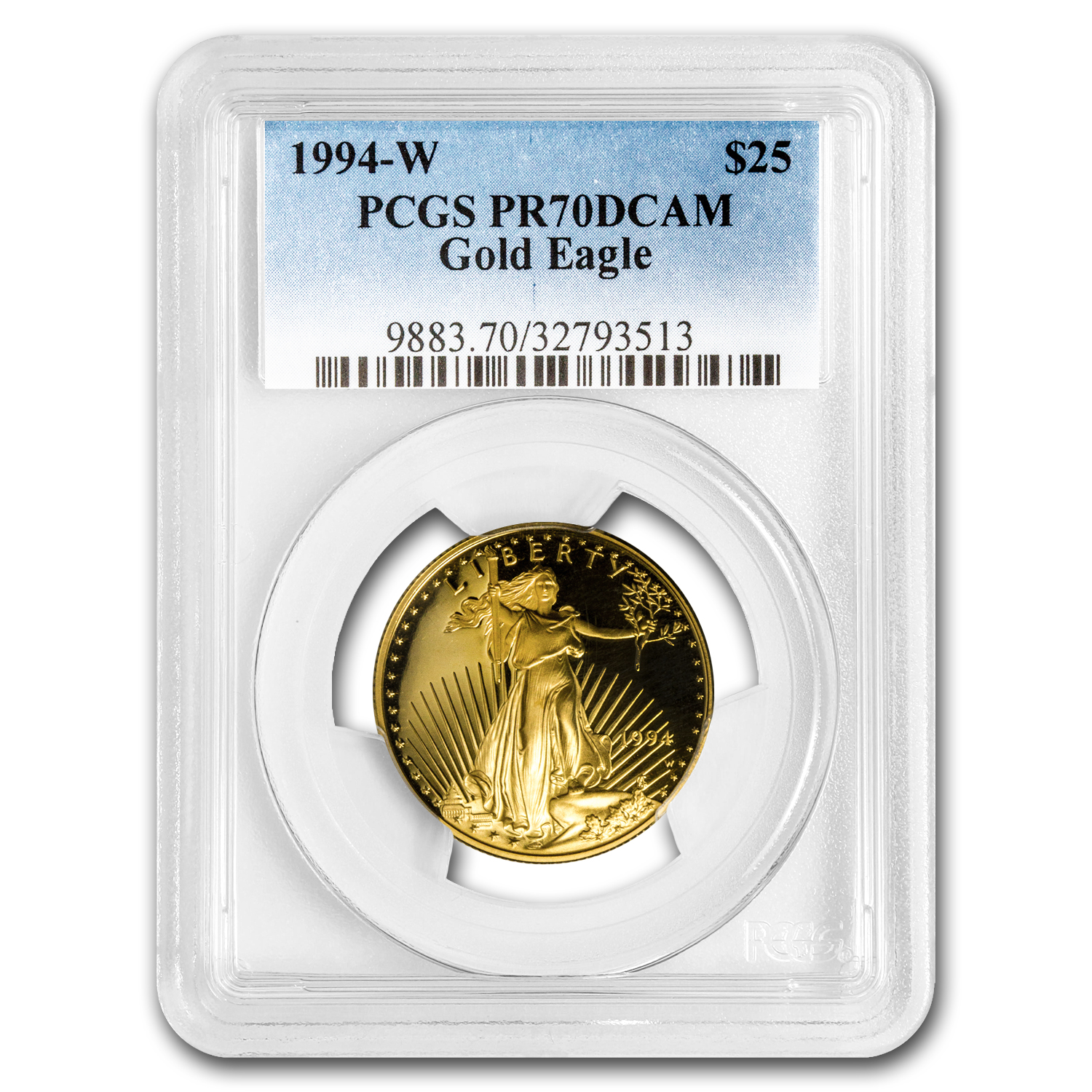 1994-W 1/2 oz Proof Gold American Eagle PR-70 PCGS