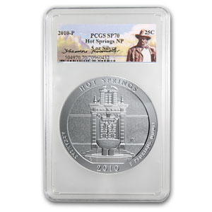 2010-P 5 oz Silver ATB Hot Springs SP-70 PCGS (Roosevelt)