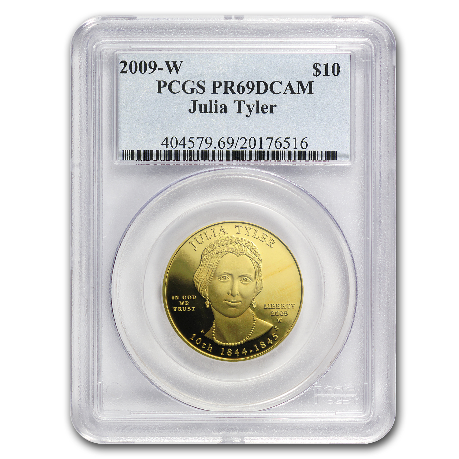 2009-W 1/2 oz Proof Gold Julia Tyler PR-69 PCGS DCAM