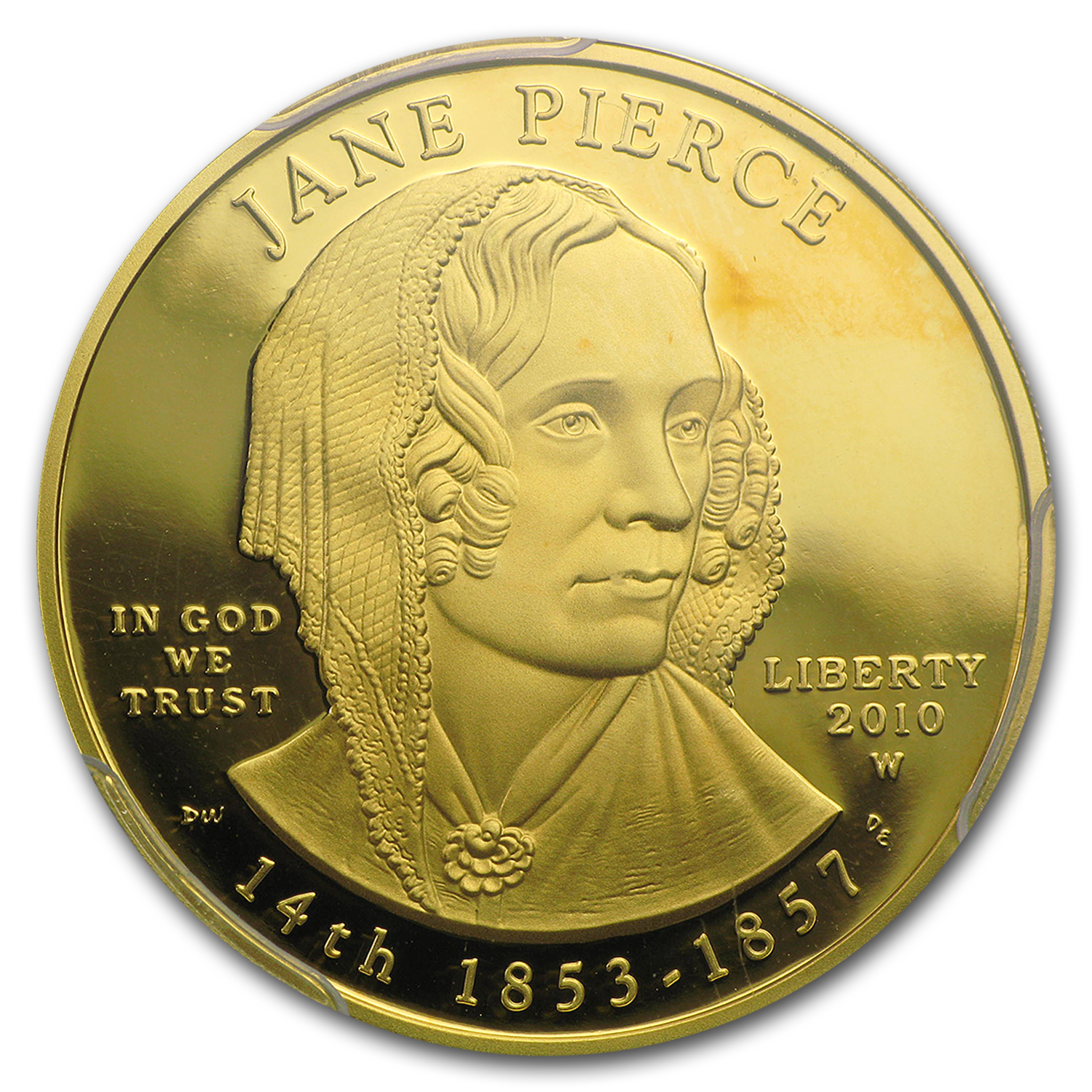 2010-W 1/2 oz Proof Gold Jane Pierce PR-69 PCGS DCAM