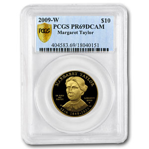 2009-W 1/2 oz Proof Gold Margaret Taylor PR-69 PCGS