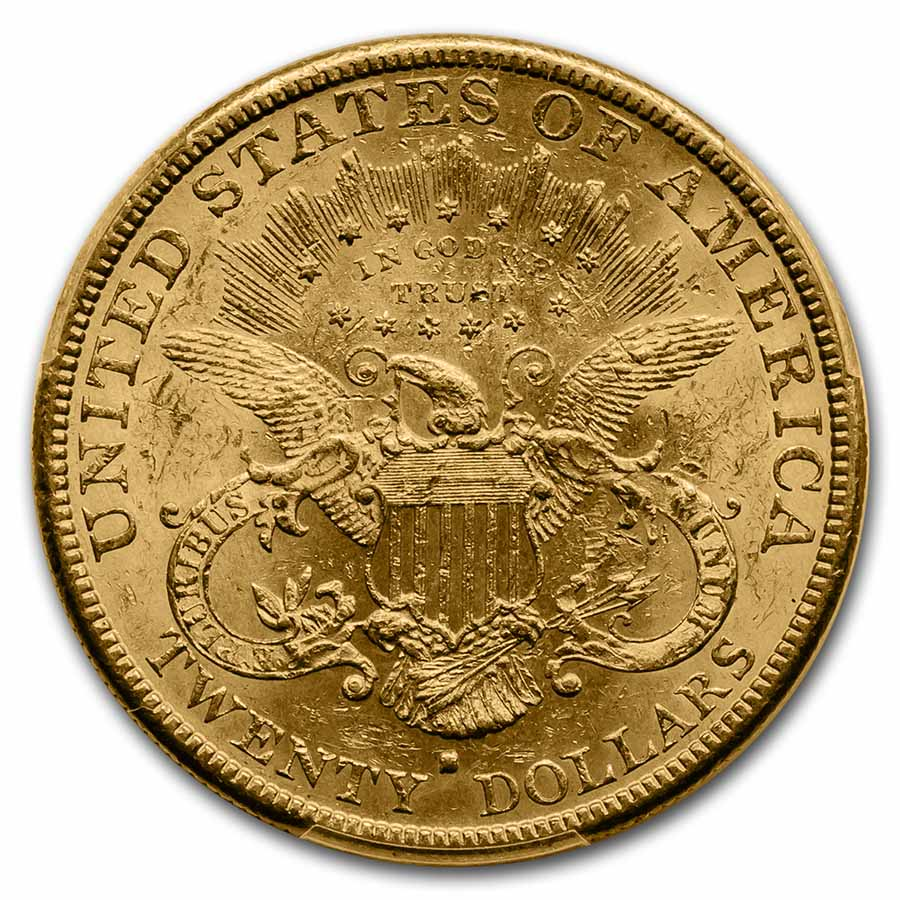1880-S $20 Liberty Gold Double Eagle AU-58 PCGS