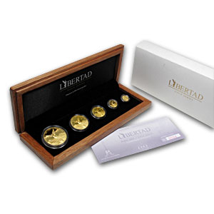 2009 Mexico 5-Coin Gold Libertad Proof Set (1.9 oz, w/Box)