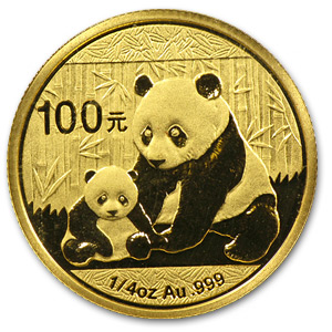2012 1/4 oz Gold Chinese Panda BU (Sealed)