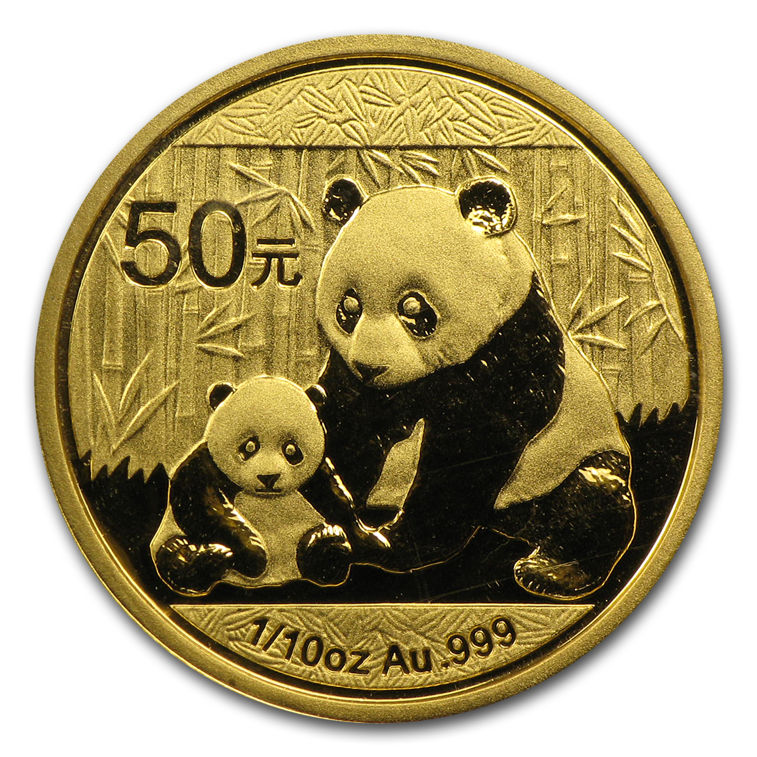 2012 China 1/10 oz Gold Panda BU (Sealed)