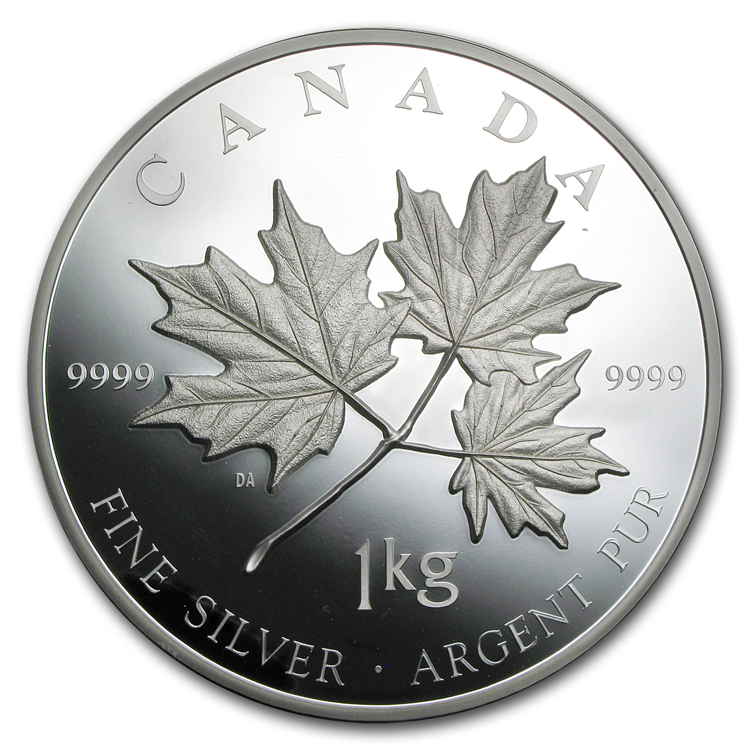 2011 Canada 1 kilo Silver $250 Maple Leaf Forever (w/Box & COA)