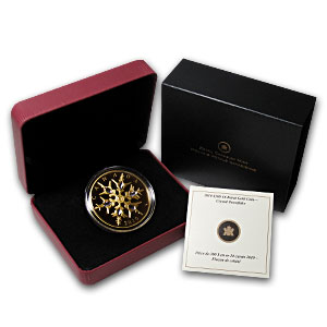 2010 1.13 oz Gold Canadian $300 Crystal Snowflake Prf (Box & COA)