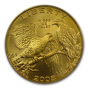 2008-W Gold $5 Commem Bald Eagle MS-70 PCGS