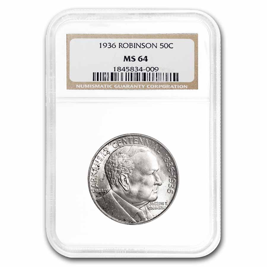 1936 Robinson-Arkansas Half Dollar MS-64 NGC