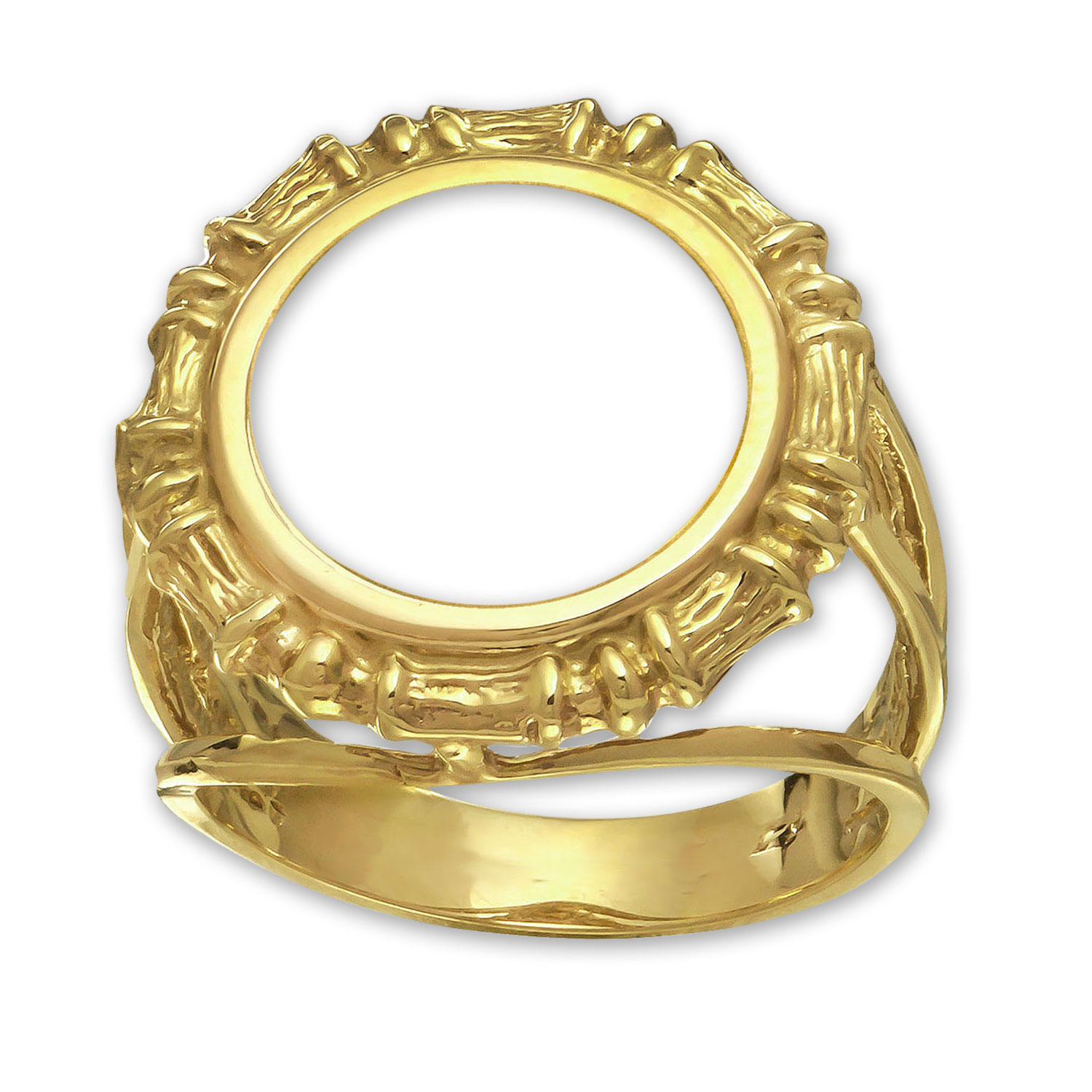 14k Gold Panda Ring (Bamboo-Prong)