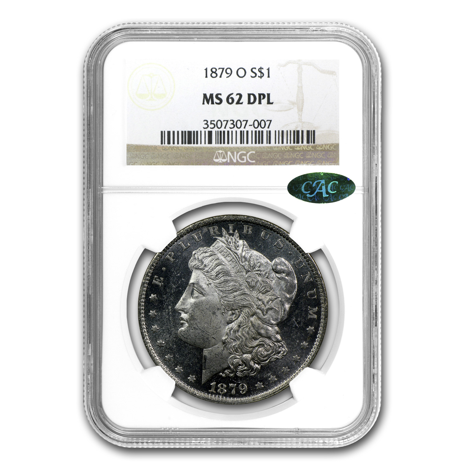 1879-O Morgan Dollar MS-62 DPL NGC (CAC)