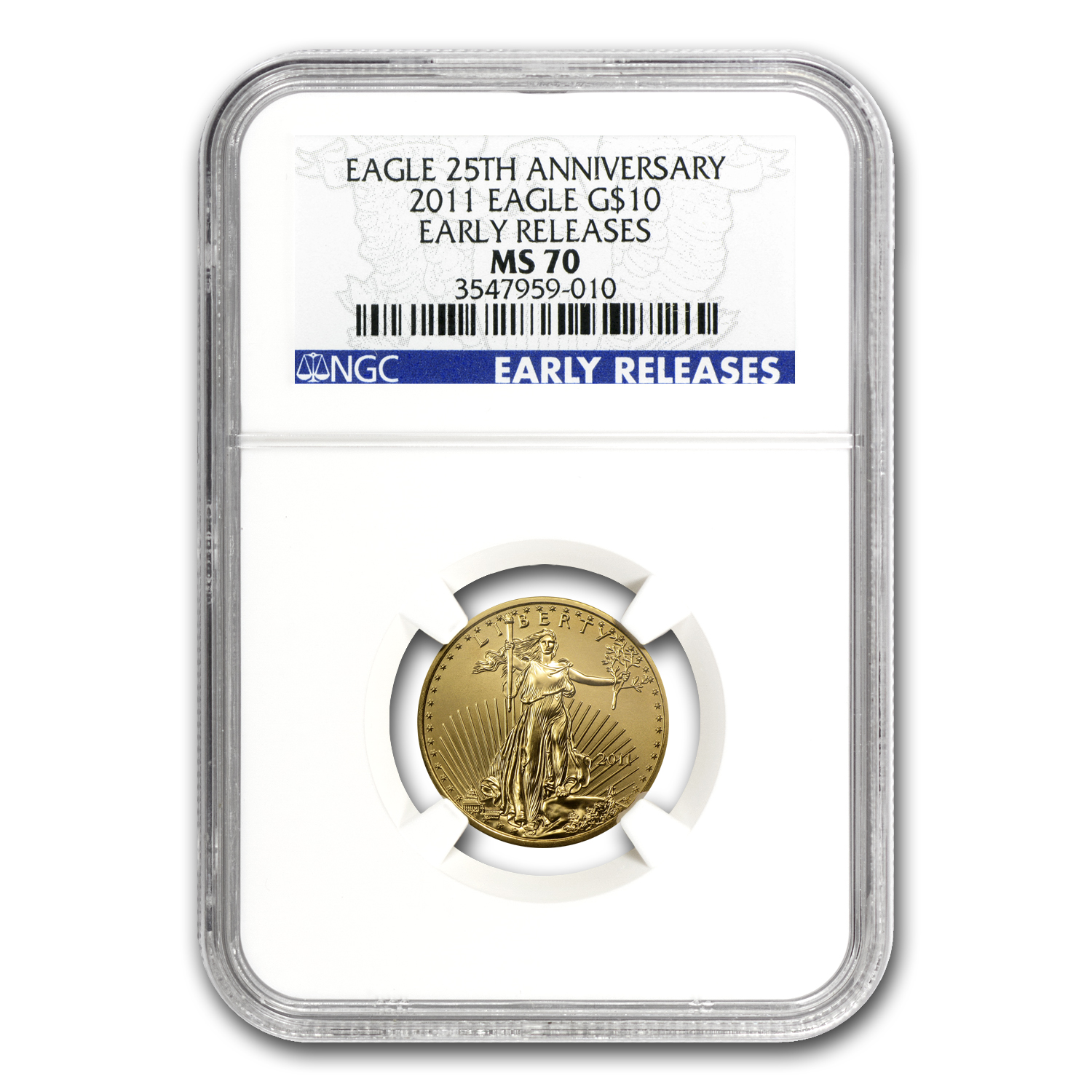 2011 1/4 oz Gold American Eagle MS-70 NGC (Early Releases)