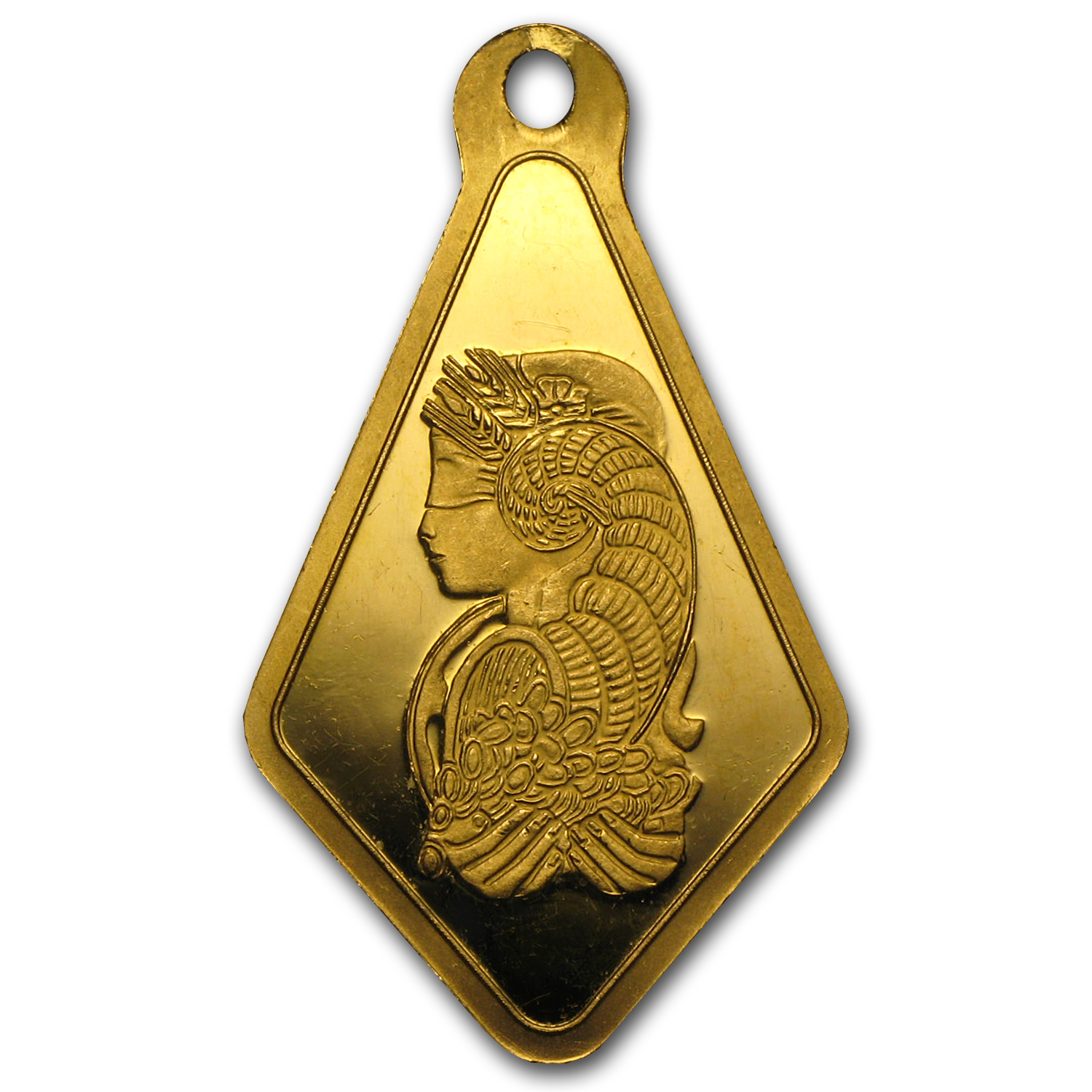 2.5 gram Gold Pendants - Pamp Suisse (Fortuna, Diamond-Shape)