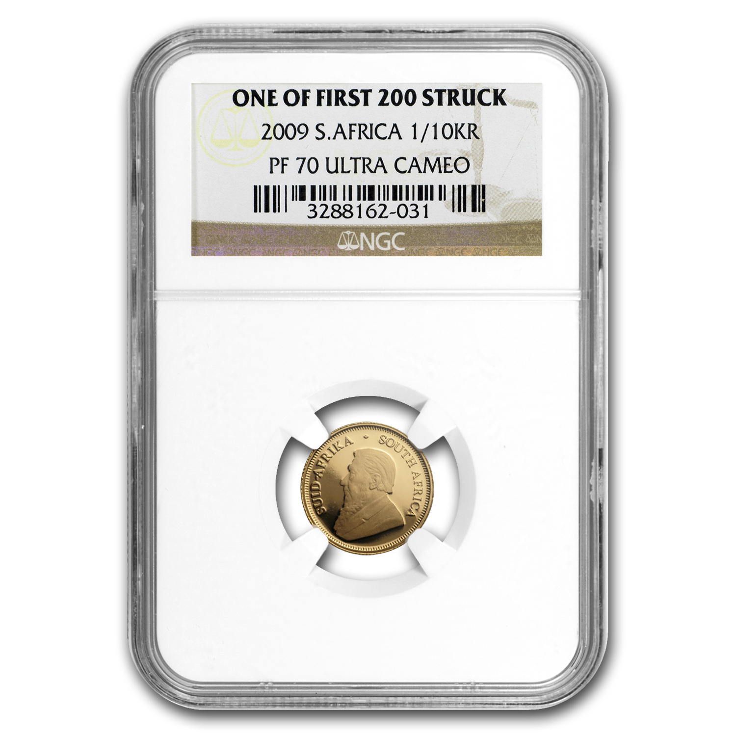 2009 South Africa 4-Coin Gold Krugerrand Proof Set PF-70 NGC