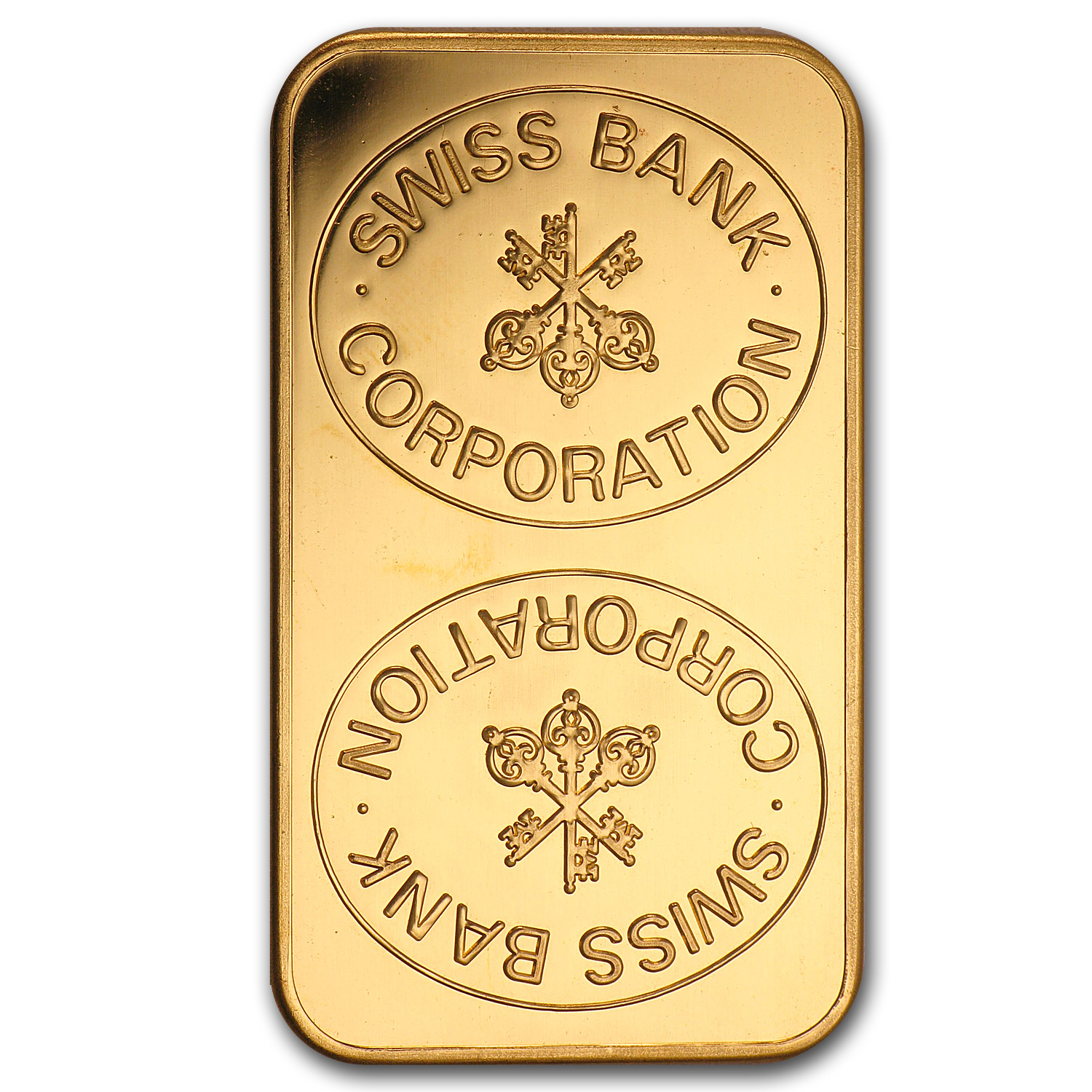 1 oz Gold Bars - Swiss Bank Corporation