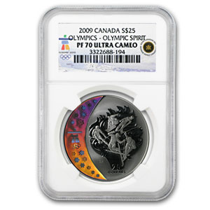2009 Canada Silver $25 Olympic Spirit PF-70 NGC