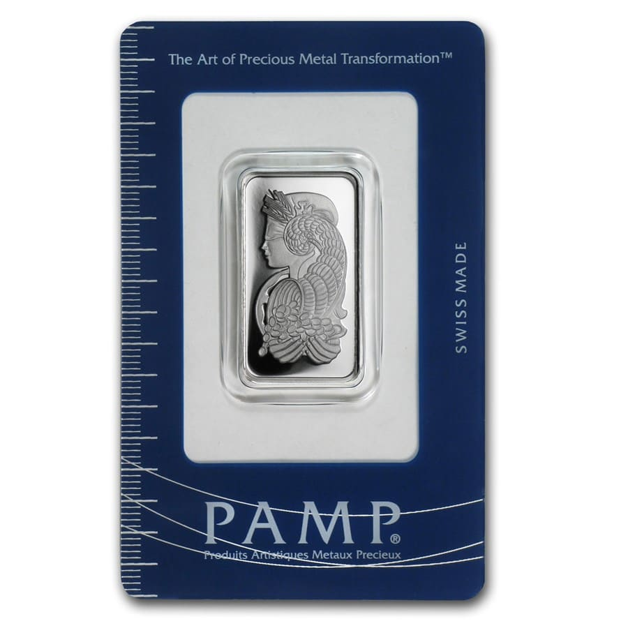 1/2 oz Silver Bar - Pamp Suisse (Fortuna)