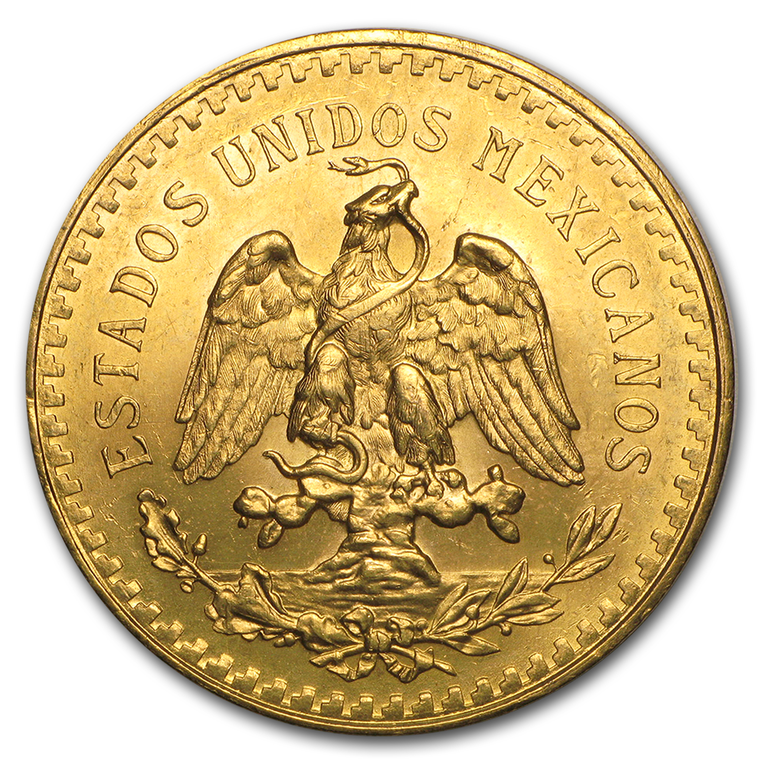 1925 Mexico Gold 50 Pesos BU