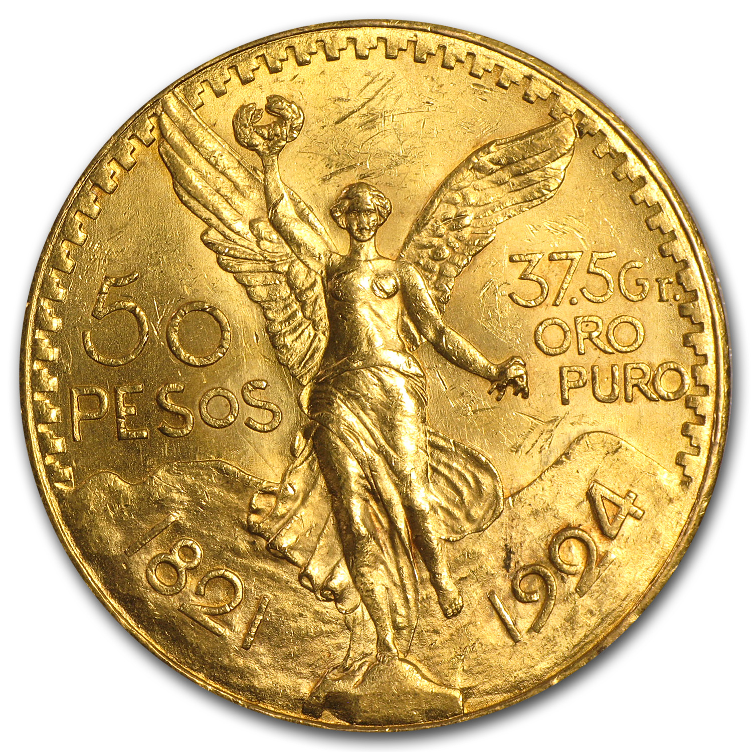 1924 Mexican Gold 50 Pesos BU