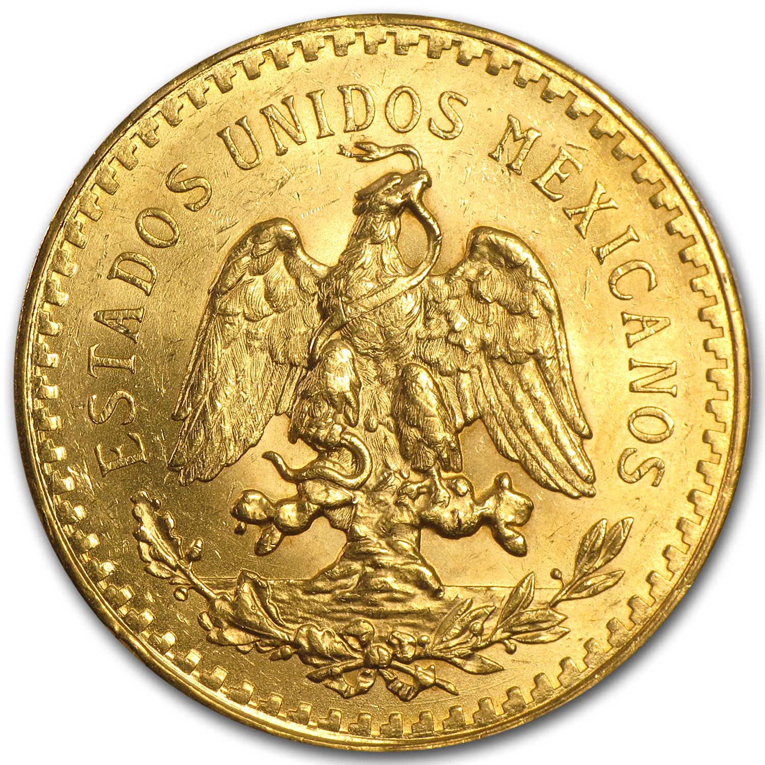 1924 Mexico Gold 50 Pesos BU