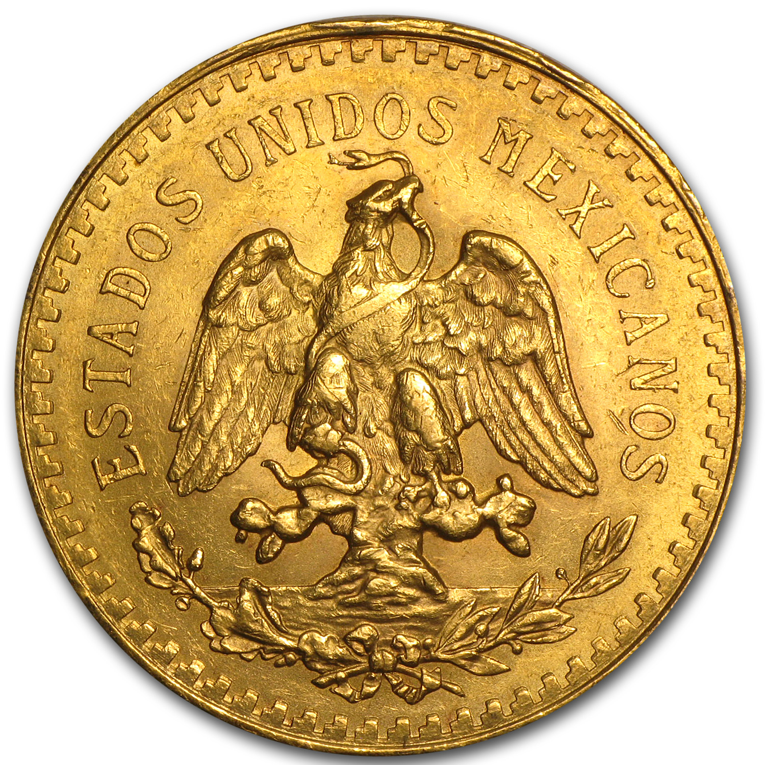 1923 Mexican Gold 50 Pesos BU