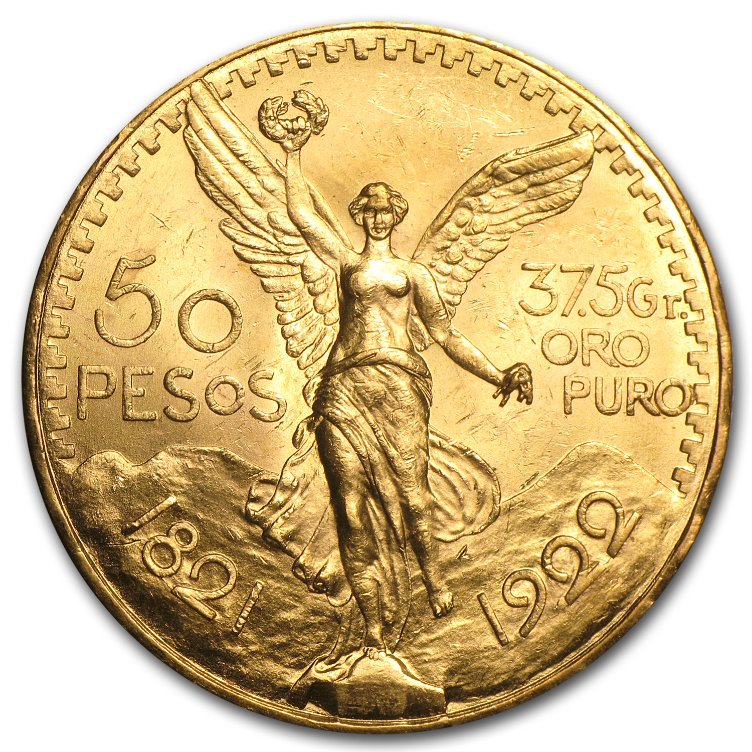 1922 Mexican Gold 50 Pesos (Brilliant Uncirculated)
