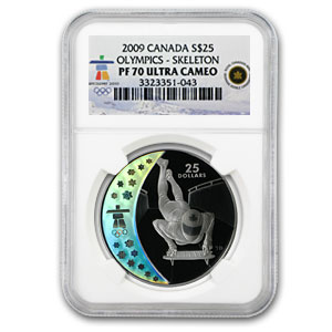 2009 Canada Silver $25 Olympic Skeleton PF-70 NGC