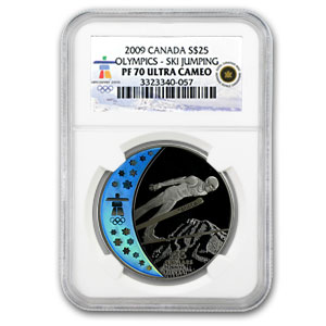 2009 Canada Silver $25 Olympic Ski Jumping PF-70 NGC