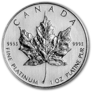 2010 Canada 1 oz Platinum Maple Leaf BU