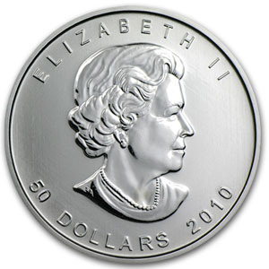 2010 1 oz Canadian Platinum Maple Leaf BU