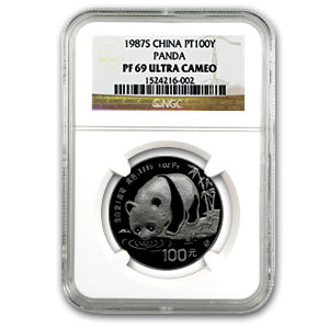 1987 China 1 oz Proof Platinum Panda PF-69 NGC