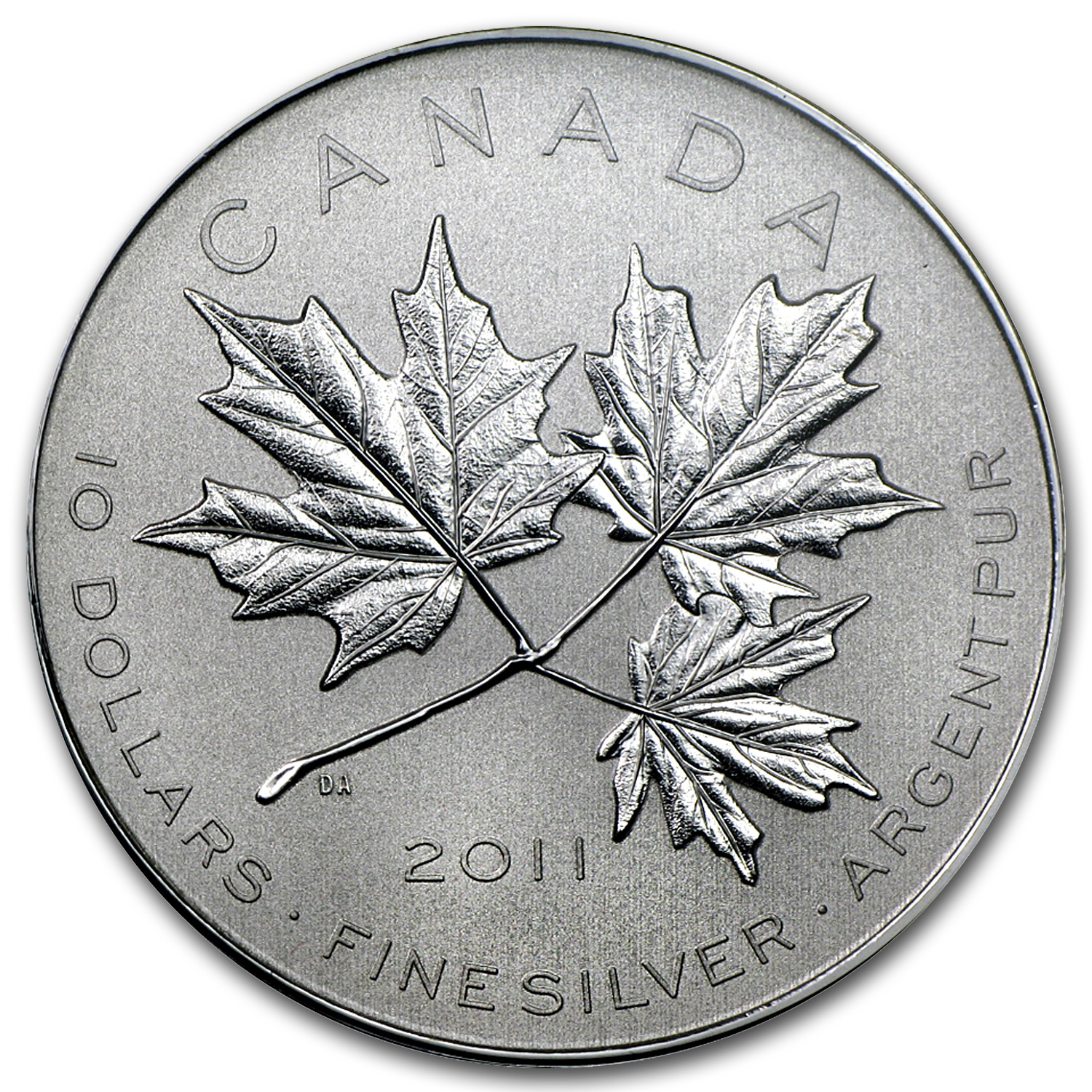 2011 Canada 1/2 oz Silver $10 Maple Leaf Forever (w/Box & COA)