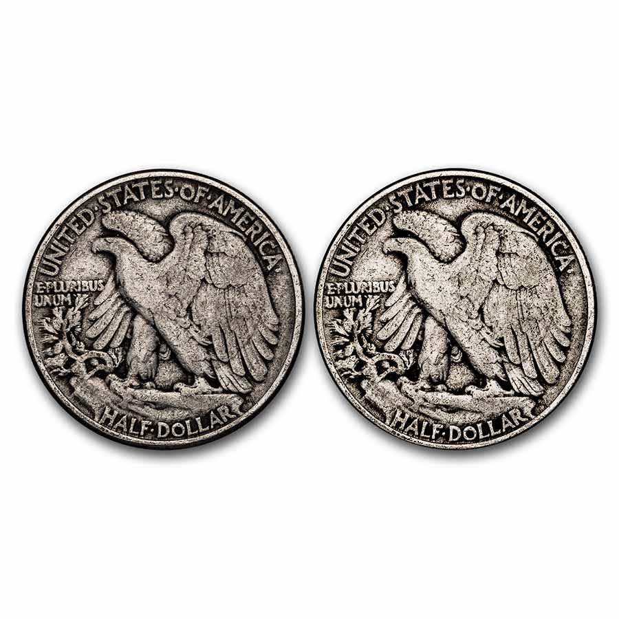 $1 Face Value Walking Liberty Half-Dollars- 90% Silver (Avg Circ)
