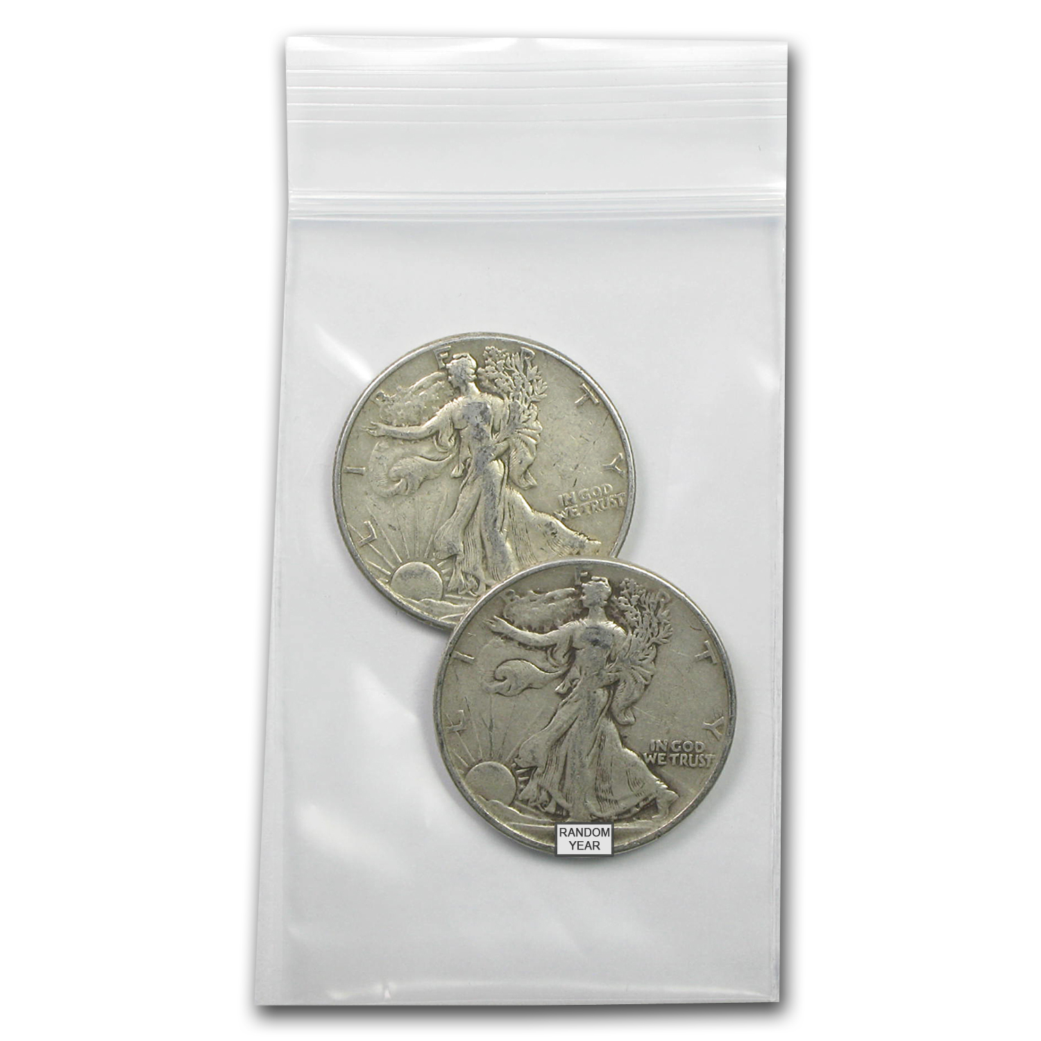 90% Silver Walking Liberty Half-Dollars $1 Face Value Avg Circ