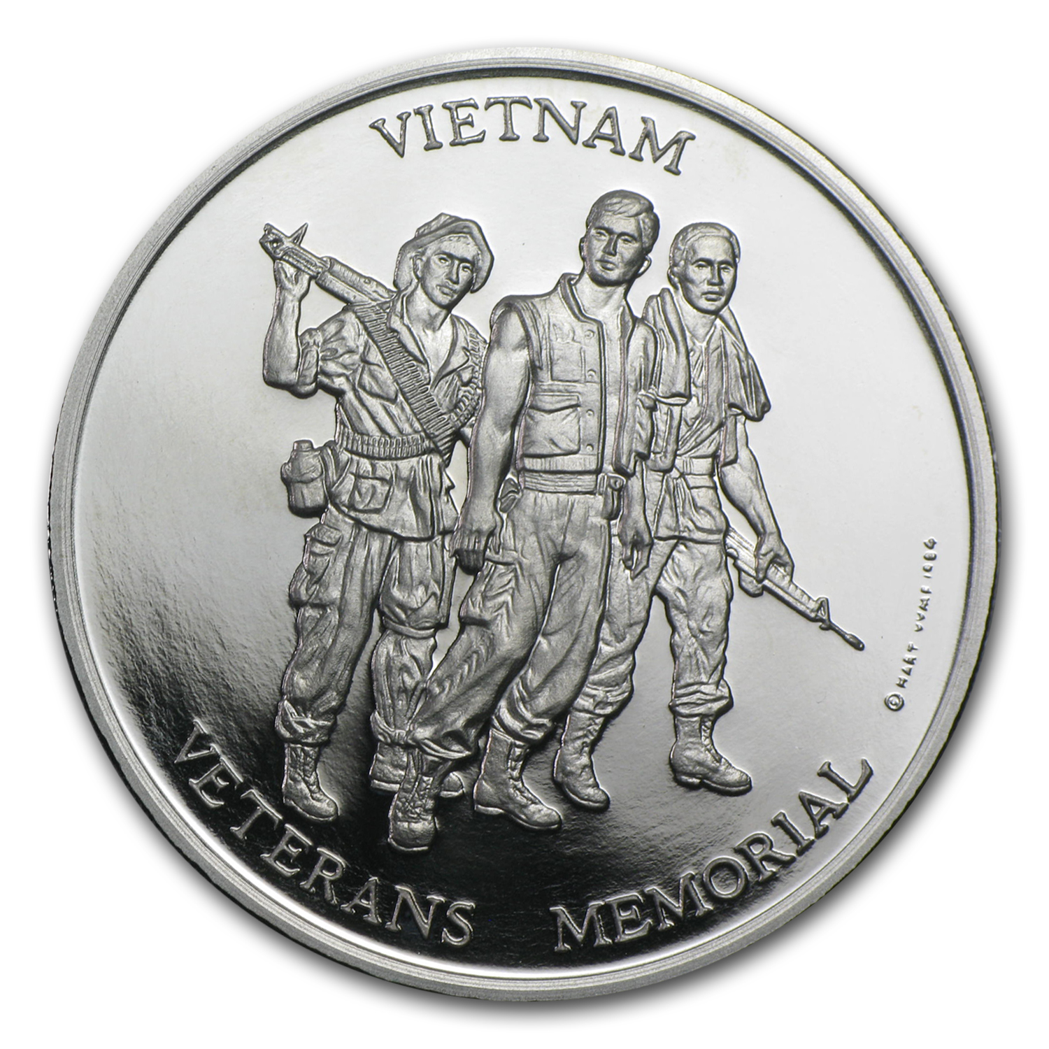 1 oz Vietnam Veterans Palladium Memorial Medal