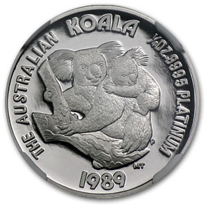 1989 Australia 1/4 oz Proof Platinum Koala PF-69 NGC